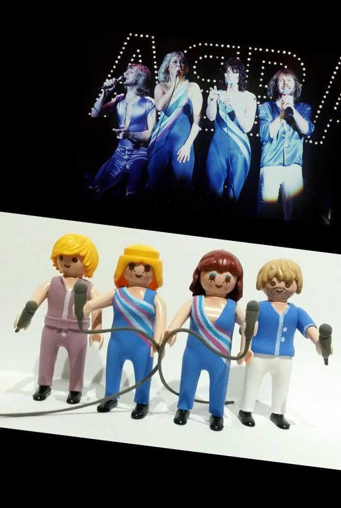 FIGURAS PLAYMOBIL CUSTOM GRUPO ABBA MUSICA