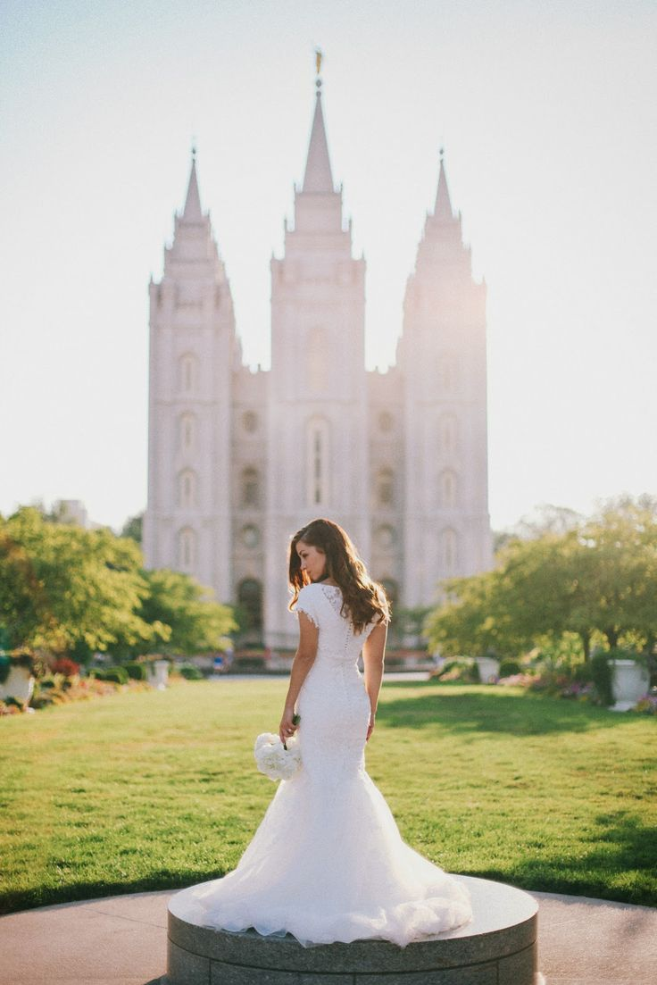 234 best bride and groom poses images on pinterest groom for Mormon temple wedding dresses