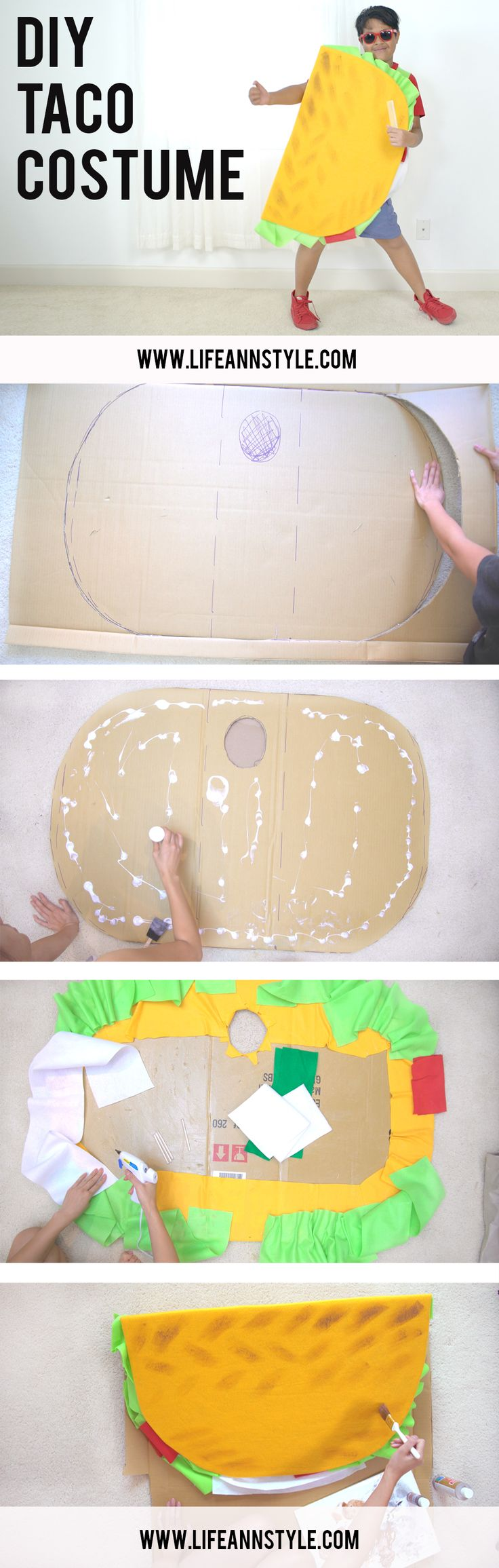DIY TACO COSTUME / Cute kids Halloween project
