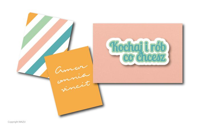 "Free journaling cards: pastel stripes, Amor omnia vincit and ""Love and do what you will"" in Polish. Enjoy!