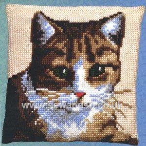 Buy Tabby Cushion Front Chunky Cross Stitch Kit Online at www.sewandso.co.uk