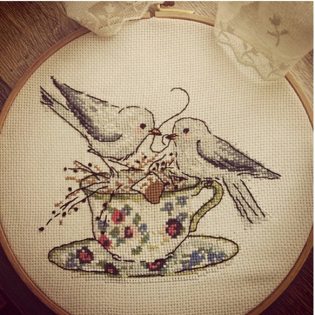 cross stitch birds [berna elginöz]