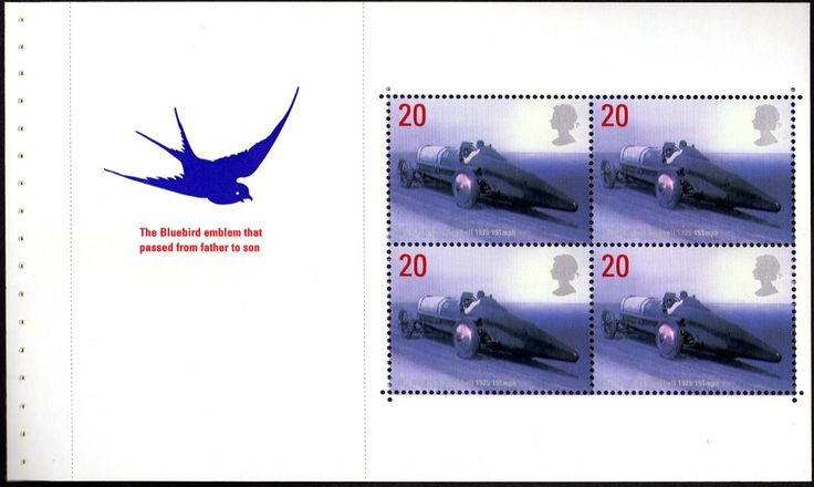 Stamp: Sir Malcolm Campbell's Bluebird, 1926 (United Kingdom of Great Britain…