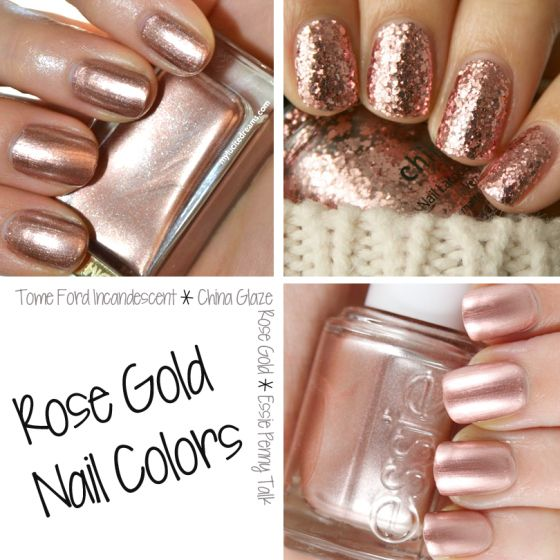 Nailed It! Rose Gold Nails. I love this line..