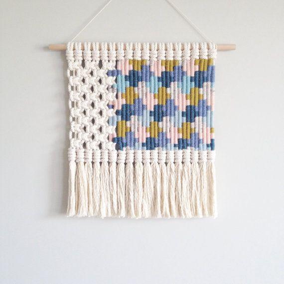 Woven macrame wall hanging | crosses