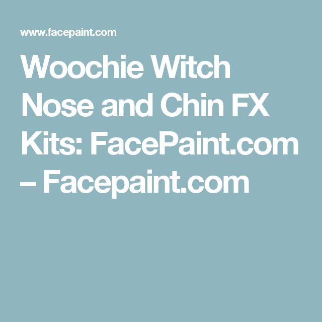 Woochie Witch Nose and Chin FX Kits: FacePaint.com – Facepaint.com