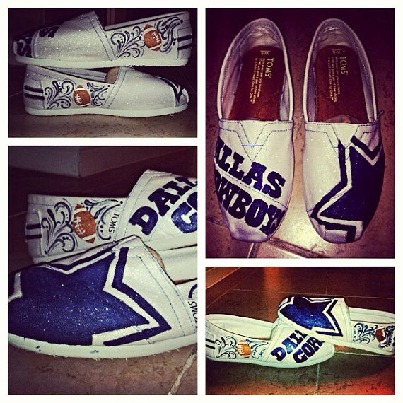Hey, I found this really awesome Etsy listing at http://www.etsy.com/listing/155163111/dallas-cowboys-custom-toms