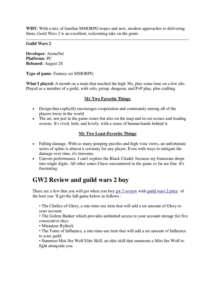 guild-wars-2-price-dokument by guildwars2price via Slideshare