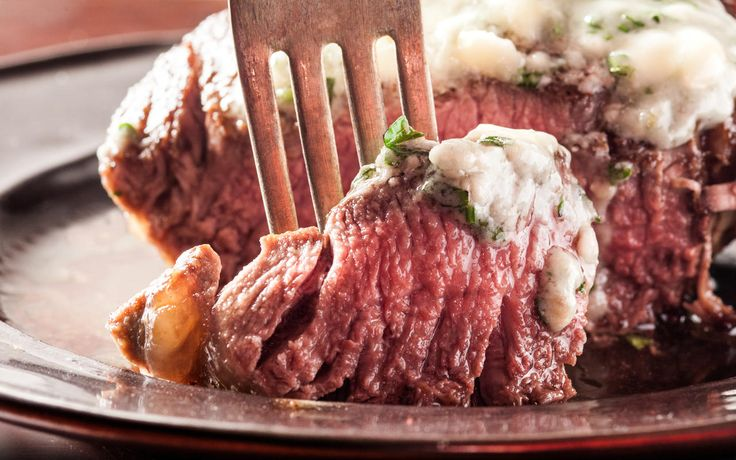 A rich recipe for filet mignon with blue cheese butter.