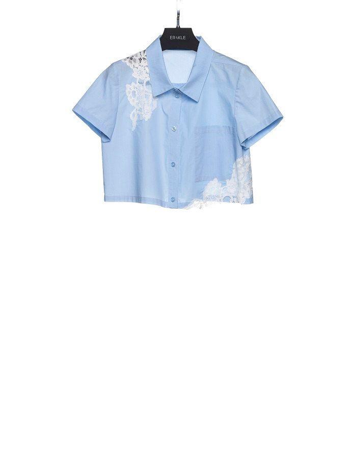 camicia corta con pizzo ERAKLE 100% cotone made in Italy di FILIPPOERAKLE su Etsy