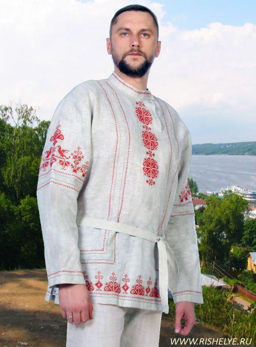 русская рубаха, косоворотка, одежда в славянском стиле