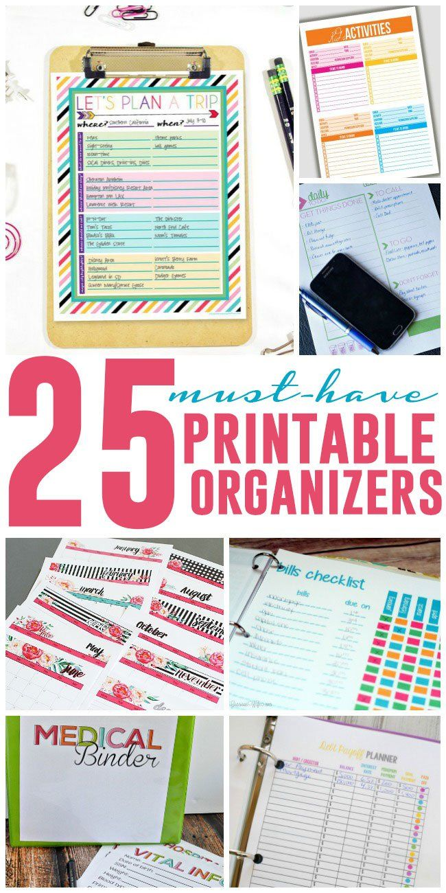 As busy moms, we have way too much to do to try to remember it all. When it doubt, write it out! With these printable organizers, you'll have everything you need to organize bills, weekly menus, medical information and more. Let's fire up the printer! Must Have Printable Organizers for Busy Moms Plan your next trip down to the attractions you want to see and the restaurants you want to try. When your kids' schedules are busier than yours, this kid's activities tracker can come in handy. It…