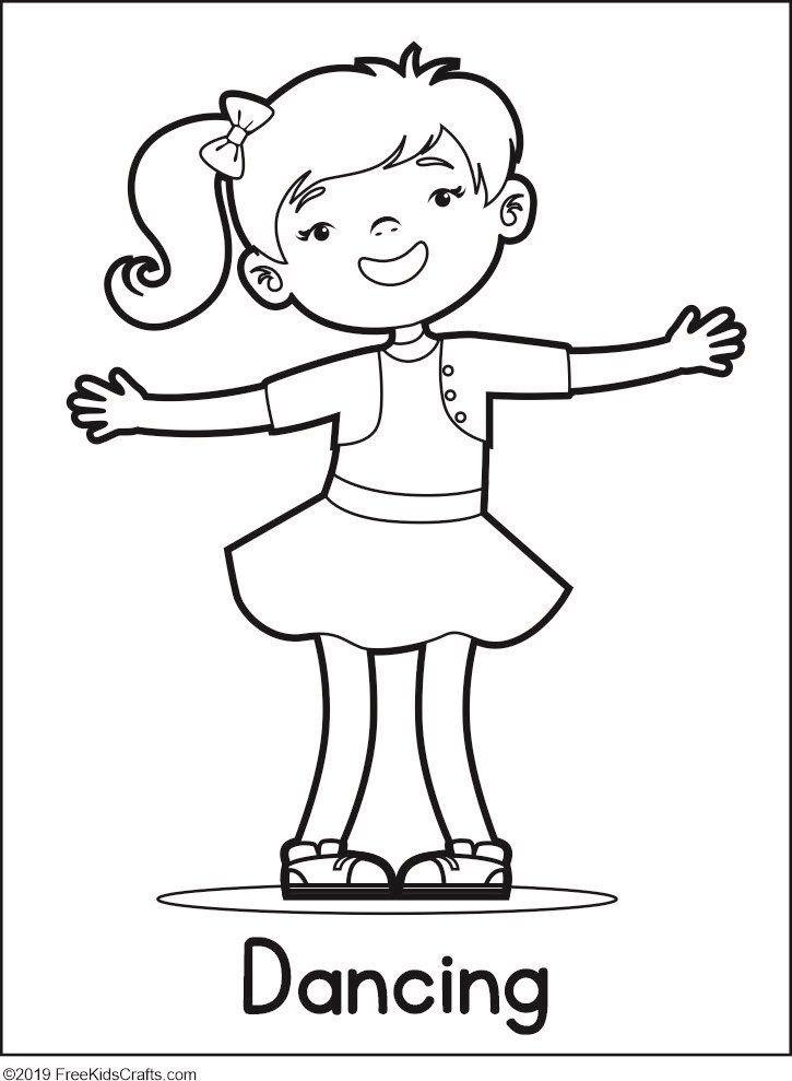 Image Of Physical Activity Coloring Pages Coloring Pages Physical Activities For Preschoolers Physical Activities