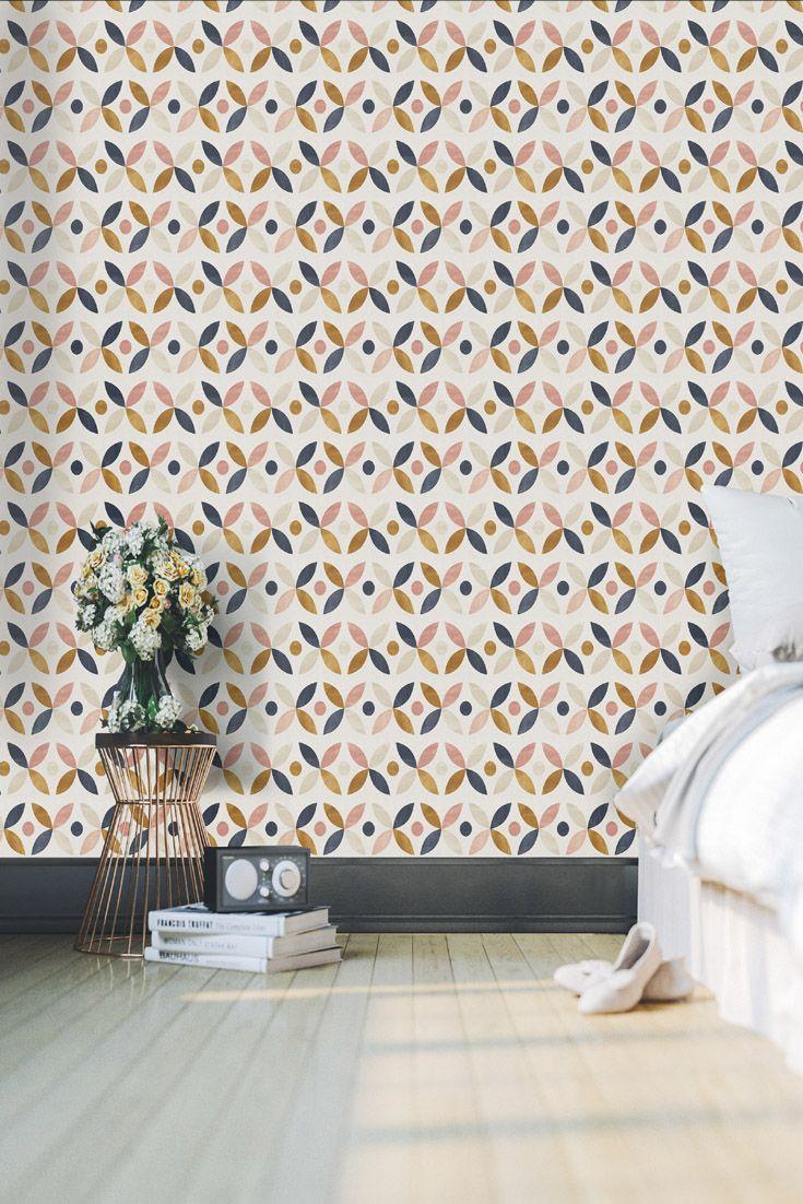Geometric Wallpaper Peel And Stick Brown Wallpaper Modern Etsy Geometric Wallpaper Peel And Stick Geometric Wallpaper Home Geometric Wallpaper