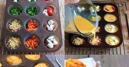 Güne kahvaltıyla başlıyoruz. Bu yüzden ilk paylaşımlarım kahvaltı seçenekleri olacak..   Muffin kabınızı biraz tereyağıyla yağlayın. ...