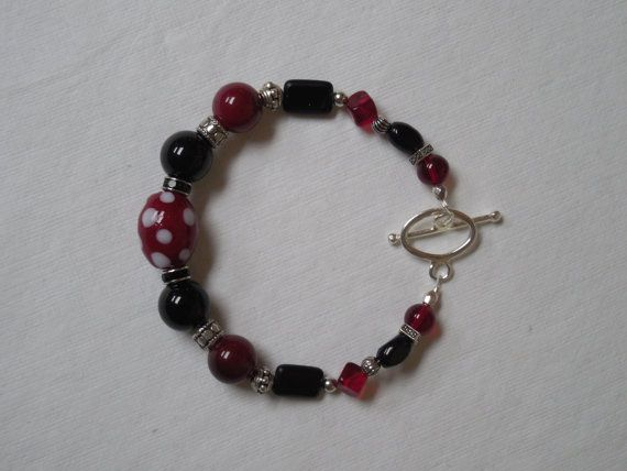 Gamecocks Game Day Bracelet by HeartAndSoulBeading on Etsy