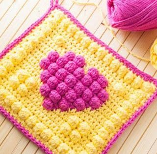 Manta de Corazones al Crochet y Cómo calcular cantidad de lana / Paso a paso | Crochet y Dos agujas