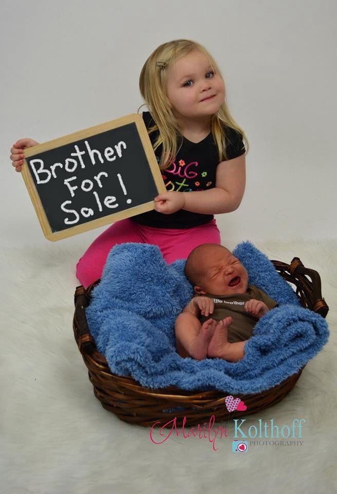 Newborn baby photo idea
