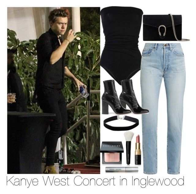 """Kanye West Concert with Harry in Inglewood"" by incognitothot ❤ liked on Polyvore featuring Laneus, Yves Saint Laurent, Valentino, Gucci, Miss Selfridge and Bobbi Brown Cosmetics"