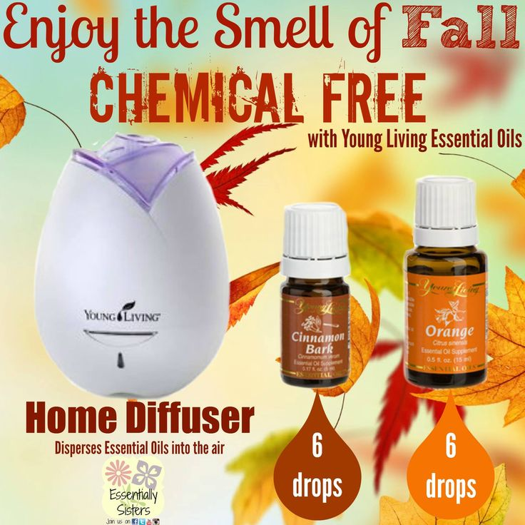 Time to ditch those toxic chemicals! Try combining cinnamon and orange essential oil in your diffuser instead!