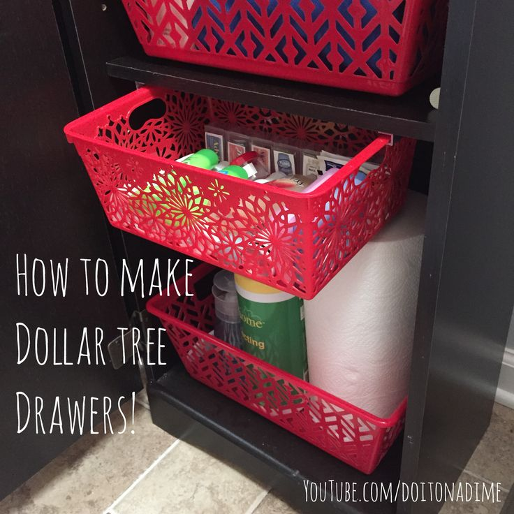 How to turn Dollar Tree bins into custom pull out drawers!