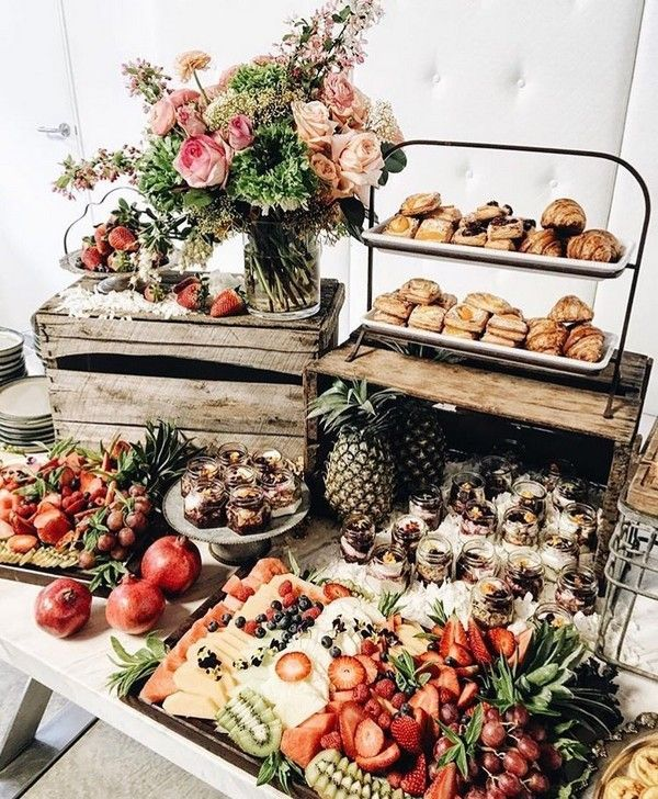 Trending 10 Epic Wedding Charcuterie Table Food Ideas For 2019 Oh Best Day Ever Garden Party Recipes Food Displays Brunch Party