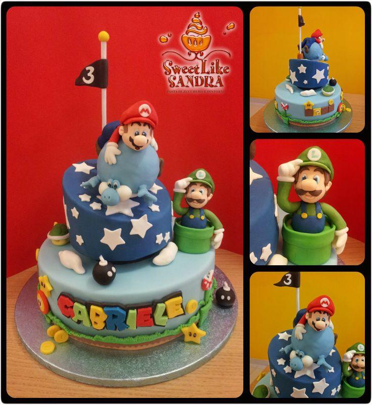 Mario, Luigi, Yoshi cake