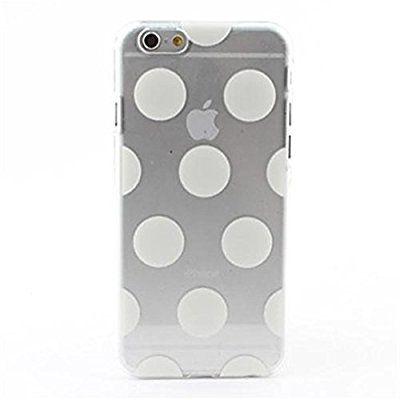 RedSuns Jahrgang undurchsichtigen weißen Punkten Silikon hülle <iPhone 4/4S iPhone 5C iPhone 6 Plus iPhone 6 iPhone 5/5S >(iPhone 5C,Weiß)