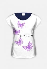 Bluzka cała-motyle