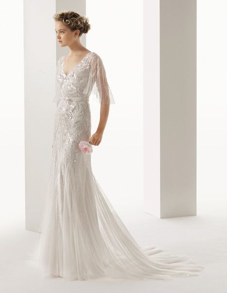 50 best top 50 wedding dresses with sleeves in 2014 images on rosa clara embellished dress with flutter sleeves the wedding scoop spotlight sparkly wedding dresses part 1 junglespirit Gallery
