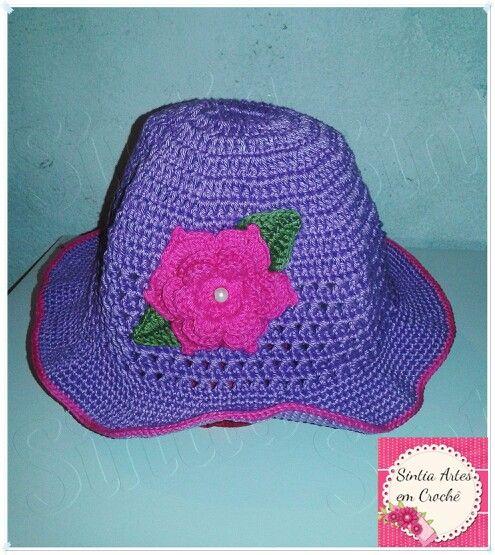 Chapéu infantil de croché