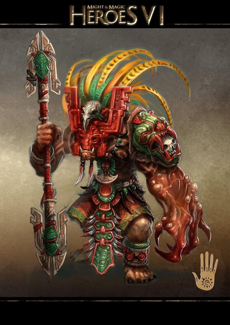 Might amp Magic X Legacy Aztec art Aztec warrior Art