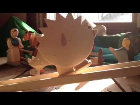 Watch this wooden hedgehog walk down the ramp! Provides young children with endless hours of fun. Handmade in Germany.