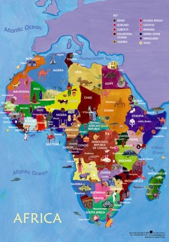 Map of Africa Poster perfect for schools