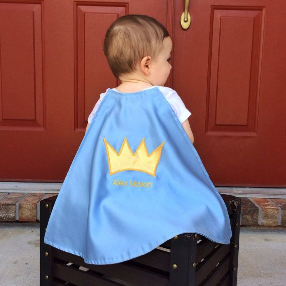 Prince satin cape with a custom name added-first birthday 1st