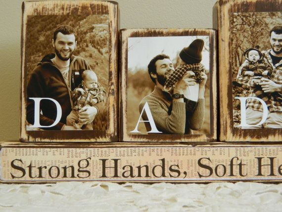 Personalized Fathers Day gift father photo with by FayesAttic11