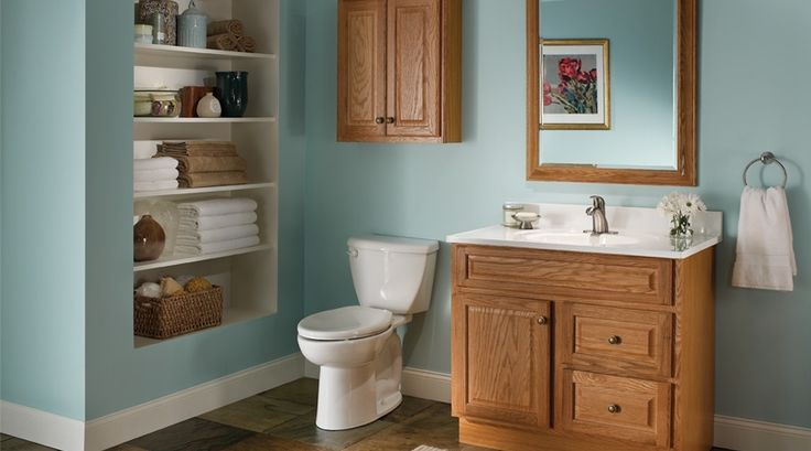 Bathroom color home pinterest colors turquoise and for Bathroom ideas with oak cabinets