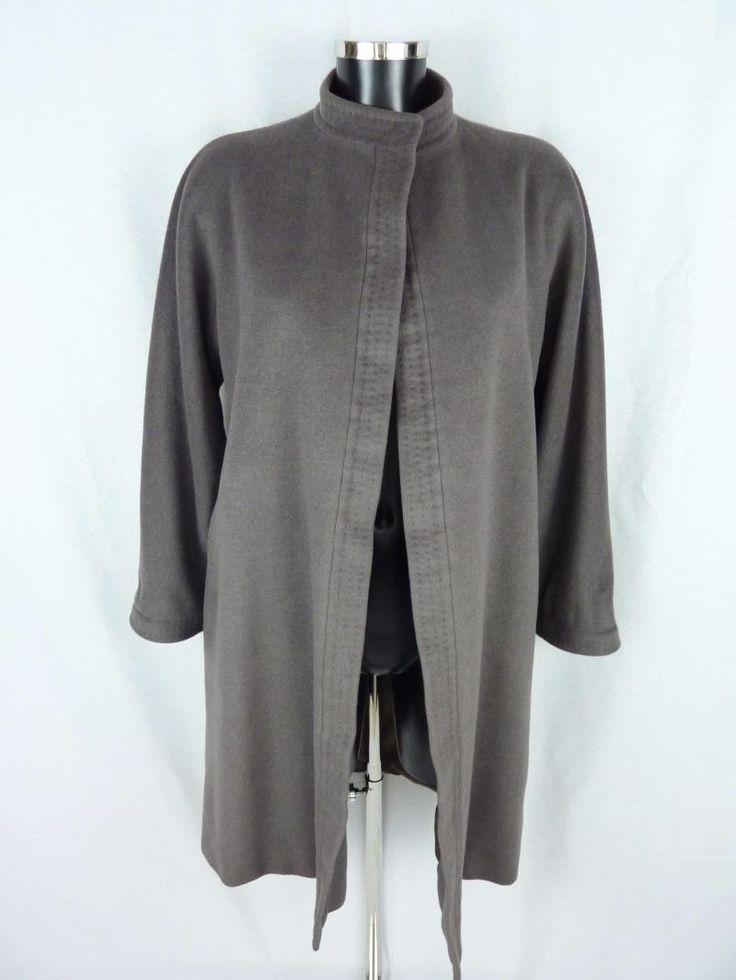 Manteau gris, MAX MARA, en laine, cachemire et angora (Taille 36 - Size S/M) de la boutique TheNuLIFEshop sur Etsy