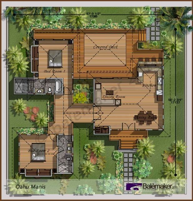 Bali style house plans astounding bali houses oahu manis for Balinese house plans