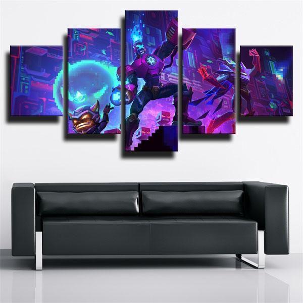 League Of Legends Malzahar Mage In 2020 Canvas Art Wall Decor Canvas Painting Framed Art