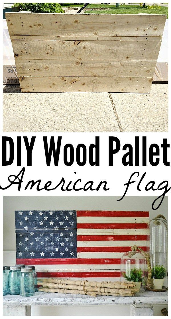DIY wood pallet American Flag - So easy to make! Great for home decor, patio/porch decor, parties, Fourth of July, memorial day,