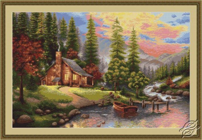 Mountain Landscape - Cross Stitch Kits by Luca-S - B451