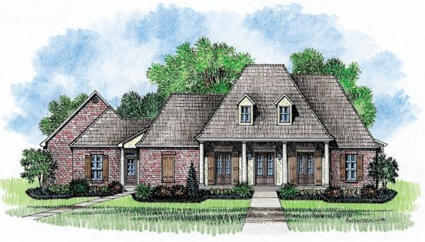 Southern Louisiana House Plans House Plans Kabel House Plans Frazier A Southern Louisiana