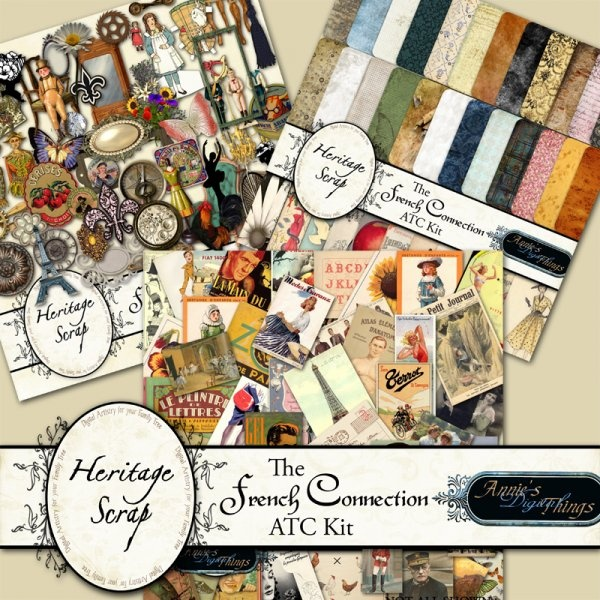 The French Connection ATC Kit by Annie's Digital Things: Atc Kits, Atc Supplies, Connection Atc, Art Atc