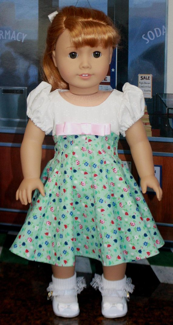 American Girl Style 1950s Circle Dress in Robin's Egg Blue