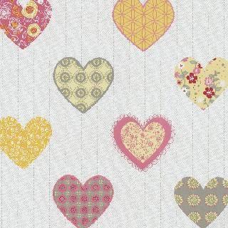 Tapet Copii Colorat cu Inimioare-Pichardt&Siebert 05583-40