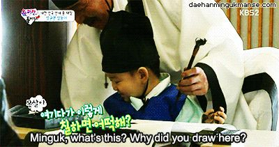 Naughty Minguk drawing on the floor | The Return of Superman