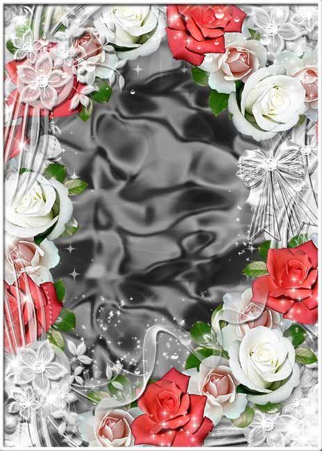Цветочная рамка для фотошопа