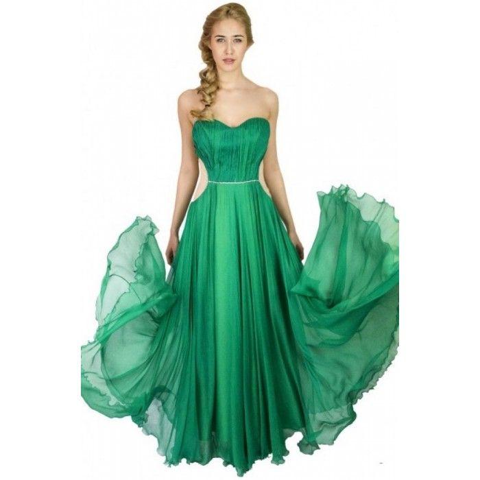 Rochie de seara verde din matase naturala  http://iuniq.ro/rochie-de-seara-verde-din-matase-naturala