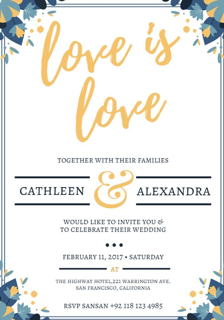 Create Your Own Wedding Invitations with These Free Templates: Canva's Free Wedding Invitation Templates